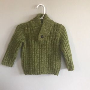 Polarn O. Pyret cable knit sweater, 9-12 months